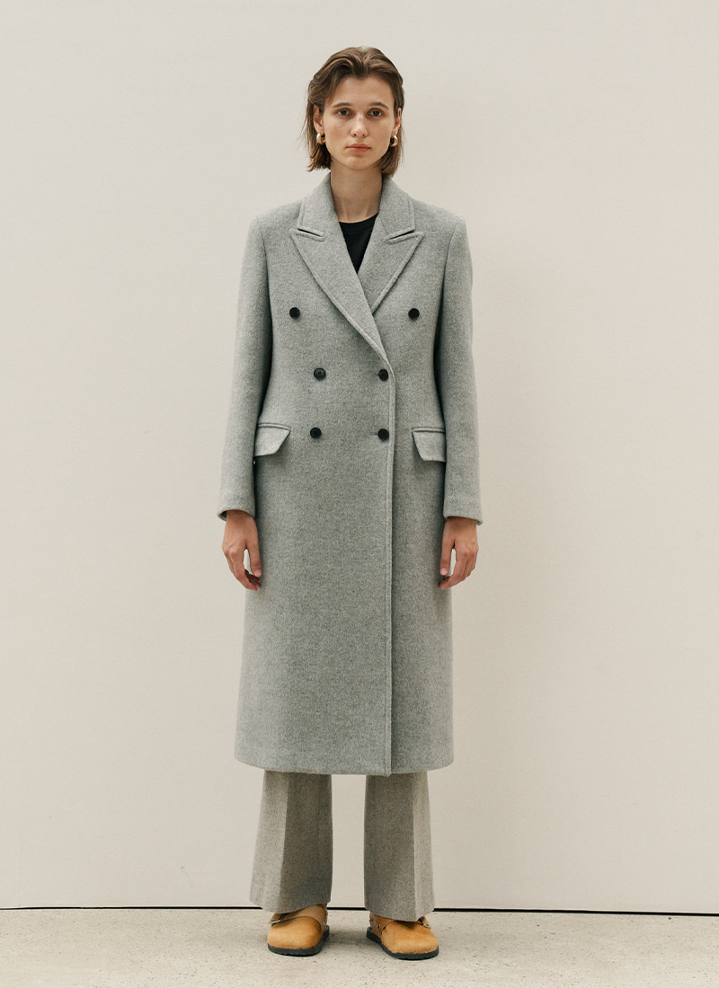 BASIC DOUBLE COAT - GREY